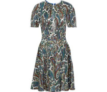 Barton Metallic Printed Silk-blend Dress Multicolor