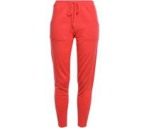 Futile Astucieux Wool And Cashmere-blend Track Pants Papaya