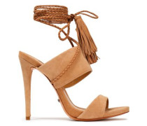 Jinx Tasseled Suede Sandals Sand