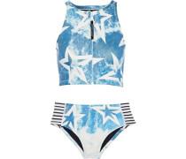 Printed Neoprene Bikini Teal