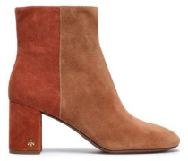 Woman Brooke Two-tone Suede Ankle Boots Camel