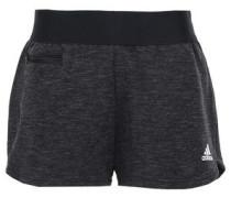 Mélange Cotton-blend Jersey Shorts Black