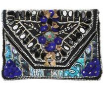 Embellished Cotton Clutch Black Size --