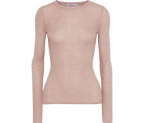 Ribbed Wool-blend Top Antique Rose