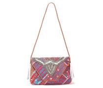 Milah Embellished Cotton Shoulder Bag Blue Size --