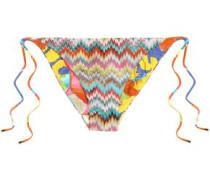 Crochet-knit mid-rise bikini briefs