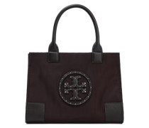 Studded Shell Tote Chocolate Size --