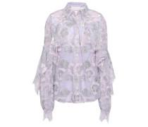 Ruffled Lace Skirt Lilac