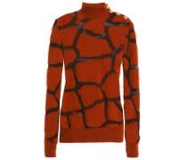 Intarsia-knit angora-blend sweater