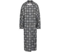 Checked Tweed Coat Gray