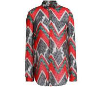 Printed fil coupé silk-georgette shirt