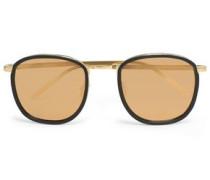 Square-frame Acetate And Gold-tone Sunglasses Copper Size --