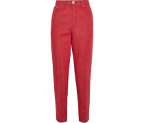 Ash High-rise Tapered Jeans Red  3