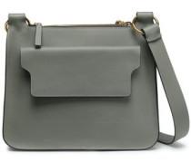 Pebbled-leather Shoulder Bag Dark Gray Size --