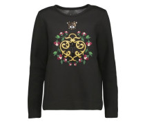Edith embellished embroidered cotton and modal-blend sweatshirt