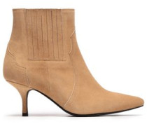 Suede Ankle Boots Camel