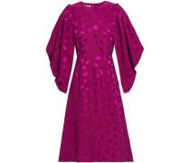 Satin-jacquard Dress Plum