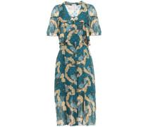 Fil Coupé Silk-chiffon Dress Petrol