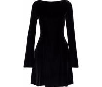 Lace-up velvet mini dress