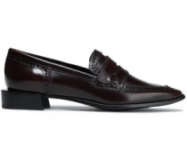 Woman Glossed-leather Loafers Merlot