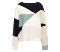 Color-block Wool And Cashmere-blend Sweater Ecru