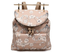Printed Textured-leather Backpack Neutral Size --