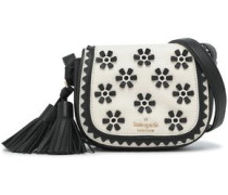Lietta Bryant Court embellished textured-leather shoulder bag