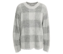 Brushed Knitted Sweater Gray
