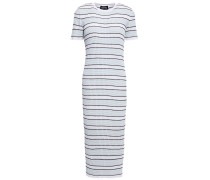 Woman Mary Striped Ribbed-knit Midi Dress Sky Blue