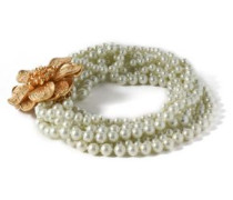 Gold-tone faux-pearl necklace