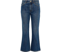 Cropped Mid-rise Kick-flare Jeans Mid Denim