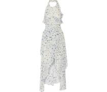 Jessy ruffled printed chiffon halterneck dress