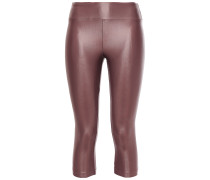 Lustrous Cropped Stretch Leggings
