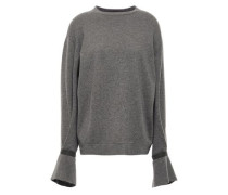 Bead-embellished Cashmere Sweater Gray
