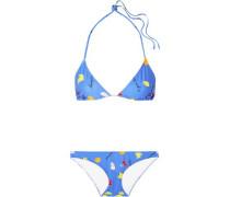 Dexies Printed Triangle Bikini Azure