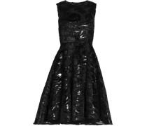 Ruffled satin lame dress