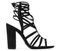 Loriana cutout suede sandals