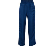 Change The Rules Striped Satin-twill Track Pants Cobalt Blue