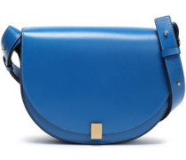 Leather Shoulder Bag Cobalt Blue Size --
