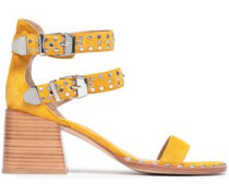 Studded Suede Sandals Saffron