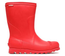 Rubber Wedge Rainboots Red