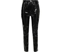 Vinyl Skinny Pants Black  4