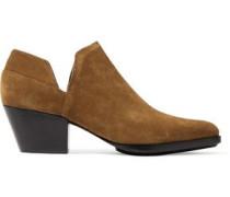 Dolores cutout suede ankle boots