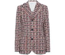 Frayed cotton-blend tweed blazer