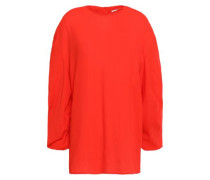Woman Ruched Crinkled-crepe Top Bright Orange