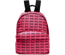 Woman Printed Shell Backpack Pink