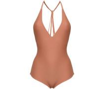 Halterneck Swimsuit Light Brown