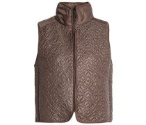 Paneled quilted shell vest