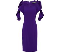 Ruffled Stretch-crepe Dress Purple Size 12