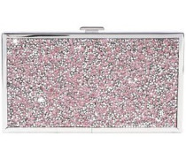 Embellished Woven And Silver-tone Box Clutch Rose Gold Size --